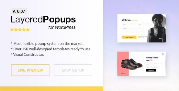 معرفی افزونه وردپرس layerd popup